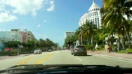 Drive in Miami South Beach Stock Footage