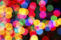 Color lighted bubbles - stock photo