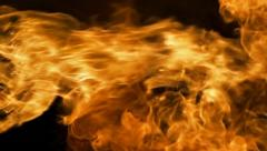Vertical Fire Blast of Close Flame Slow Motion Stock Footage
