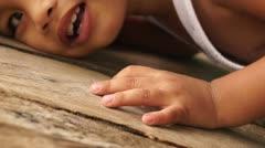 Playful little boy Stock Footage