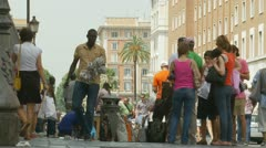 Counterfeit goods sold in Italy - stock footage