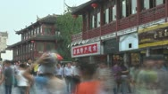 Timelapse Nanjing shopping street crowded, Nanjing, China Stock Footage