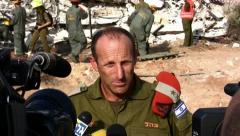 General Major Eyal Eizenberg, head of the Home Front Command, Israel Stock Footage
