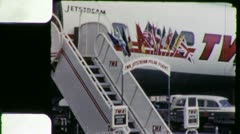 TWA JETSTREAM AIRLINER 1960 (Vintage Old Film Home Movie Footage) 5333 - stock footage
