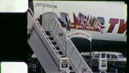 TWA JETSTREAM AIRLINER 1960 (Vintage Old Film Home Movie Footage) 5333 Stock Footage