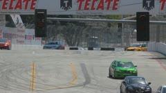 Drifter car racing at the Long Beach Grand Prix 2012 Stock Footage