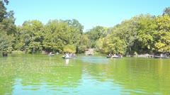 Central Park New York Lake Stock Footage