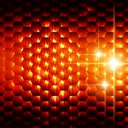 abstract orange hexagons background - stock illustration