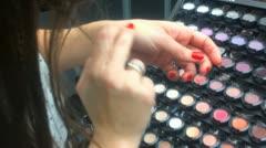 Make up powder Stock Footage
