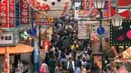 Busy street downtown Osaka Stock Footage