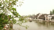 Traditional Old Chinese Style house by the river in Zhujiajiao, China Stock Footage