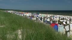 Baltic Sea Beach in Karlshagen on Usedom Island - Northern Germany Stock Footage