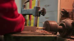 Carpentry (mechanical drill) Stock Footage
