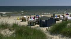 Beautiful Baltic Sea Beach in Karlshagen on Usedom Island, Germany Stock Footage