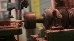 Carpentry (mechanical drill) _1 Stock Footage