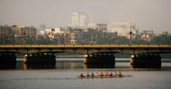 Rowers on the charles Stock Photos