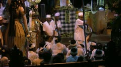 Hindu/Balinese ceremony in Sanur 13 November 2011, Bali Stock Footage