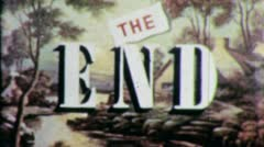 THE END Vintage Title Slug Film Leader Texture Loop Ending Finale 5342 - stock footage