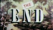 THE END Vintage Title Slug Film Leader Texture Loop Ending Finale 5342 Stock Footage