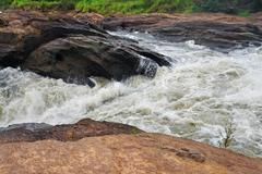 whitewater at the murchison falls - stock photo