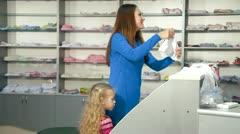 Kids Underwear Department Stock Footage