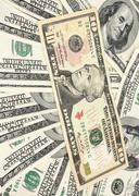 Stock Photo of american dollars background / usd background texture