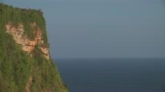 View from the cliff around Uluwatu, Bali Stock Footage