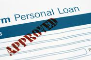 Loan form Stock Photos