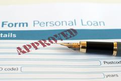 loan form - stock photo