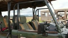 Pan of African Safari Vehicle  (HD) Stock Footage