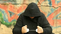Man in handcuffs - stock footage