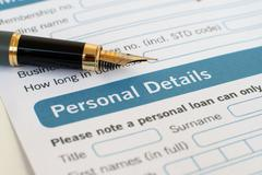 Loan form Stock Photos