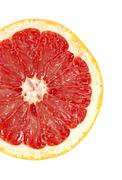 red grapefruit close-up macro shot - stock photo