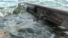 Railroad tracks in water Stock Footage