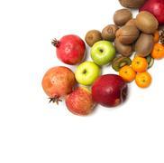 Stock Photo of fresh fruit on a white background