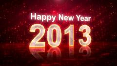 Happy New Year 2013 greetings Stock Footage
