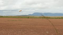 Windsock on Dirt Airstrip in Africa  (HD) - stock footage