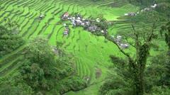 Batad rice terraces, Philippines Stock Footage