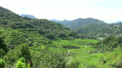 Banaue rice terraces, Philippines - stock footage