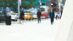 NYC Grace Building walkway - stock footage
