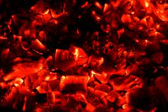 Red hot coals background Stock Photos