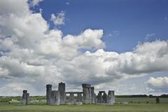 stonehenge, a megalithic monument in england built around 3000bc - stock photo