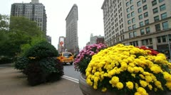 NYC Flat Iron Building Stock Footage