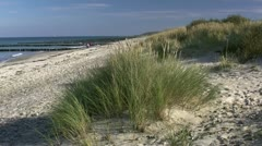 Baltic Sea Beach in Börgerende - Northern Germany Stock Footage
