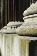 Stone pillars concept of justice and strength Stock Photos