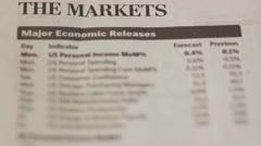 Market statistics Stock Footage
