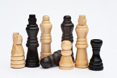 chess game of strategy business concept application - stock photo