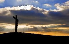 Stock Photo of jesus christ crucifixion on good friday silhouette