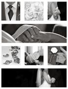 Wedding collage collection in black and white Stock Photos