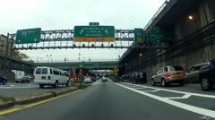 George Washington Bridge exit towards FDR South - stock footage